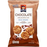 Quaker Chocolate Rice Crisps Snacks 3.52oz Bag product image