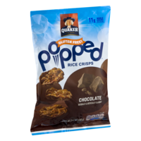 Quaker Popped Rice Snacks Chocolate 3.52oz Bag product image