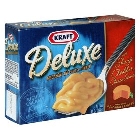 Kraft Deluxe Macaroni & Cheese Dinner with Sharp Cheddar Cheese Sauce 14oz PKG