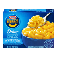 Kraft Deluxe Macaroni & Cheese Dinner 2% Milk Cheese 14oz PKG