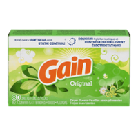 Gain Fabric Softener Sheets Original Fresh Scent 80CT