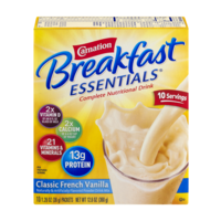 Carnation Instant Breakfast Essentials Classic French Vanilla 10CT 12.6oz Box
