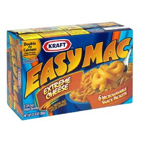 Kraft Easy Mac Extreme Cheese Macaroni & Cheese Dinner 6CT 12.9oz Box