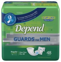 Depend Guards For Men  Moderate Absorbency One Size Fits All 52CT PKG