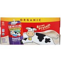 Horizon Organic Milk Vanilla Lowfat 18CT of 8oz Boxes