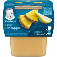 Gerber 2nd Foods Pear Pineapple 4oz 2PK