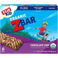 Clif Kid Organic Z Bar Chocolate Chip 6CT 7.62oz Box