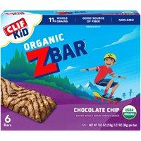 Clif Kid Organic Z Bar Chocolate Chip 6CT 7.62oz Box
