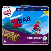 Clif Kid Organic Z Bar Chocolate Chip 6CT 7.62oz Box product image