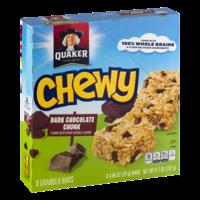 Quaker Chewy 90 Calories Dark Chocolate Chunk 8CT 6.7oz Box