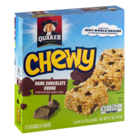 Quaker Chewy Dark Chocolate Chunk 8CT 6.7oz Box product image