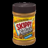 Skippy Natural Creamy Peanut Butter Spread with Honey 15oz Jar