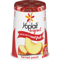 Yoplait Original Yogurt Lowfat Harvest Peach 6oz Cup