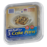 Hefty EZ Foil Cake Pans with Covers 8x8 3CT PKG