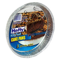 Hefty EZ Foil Cake Pans with Covers 8 inch 3CT PKG