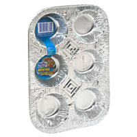 Hefty EZ Foil Cupcake Pans with Liners 2CT PKG