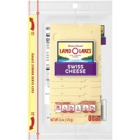 Land O Lakes Sliced Swiss Cheese Deli Thin 8CT 6oz PKG