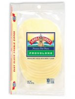 Land O Lakes Sliced Provolone with Smoke Flavor Cheese Deli Thin 10CT 8oz PKG
