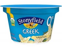Stonyfield Organic Greek 0% Fat Yogurt Vanilla  5.3oz Cups