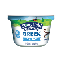 Stonyfield Organic Greek 0% Fat Yogurt Vanilla  5.3oz Cups product image