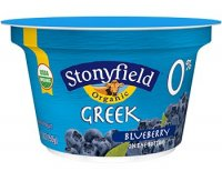 Stonyfield Organic Greek 0% Fat Yogurt Blueberry 5.3oz Cups