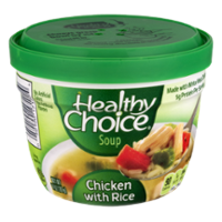Healthy Choice Chicken with Rice Microwavable Soup 14oz Cup