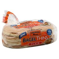 Thomas' Bagel Thins Plain 110 Calories 8CT 13oz PKG