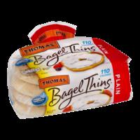Thomas' Bagel Thins Plain 110 Calories 8CT 13oz PKG