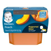 Gerber 1st Foods Peaches All Natural 2.5oz 2PK