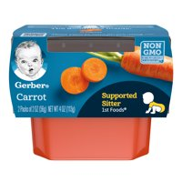 Gerber 1st Foods Carrots All Natural 2.5oz 2PK