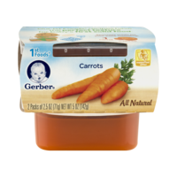 Gerber 1st Foods Carrots All Natural 2.5oz 2PK product image
