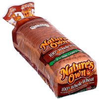 Nature's Own 100% Whole Wheat Bread 20oz PKG product image
