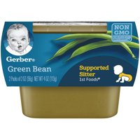 Gerber 1st Foods Green Beans  All Natural 2.5oz 2PK