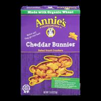 Annie's Real Cheddar Bunnies Baked Cheddar Bunnies Crackers 7.5oz Box