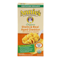 Annie's Homegrown Organic Shells & Real Aged Cheddar 6oz Box