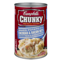 Campbell's Chunky Soup Baked Potato Cheddar & Bacon Bits 18.8oz. Can