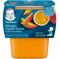 Gerber 2nd Foods Mango Apple Twist 4oz 2PK