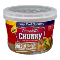 Campbell's Chunky Soup Bowl Sirloin Burger Vegetables 15.25oz BWL