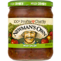 Newman's Own All Natural Salsa Chunky Mild 16oz Jar product image