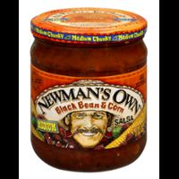Newman's Own All-Natural Salsa Black Bean & Corn 16oz Jar product image