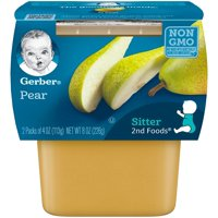 Gerber 2nd Fruits Pears All Natural 4oz 2PK