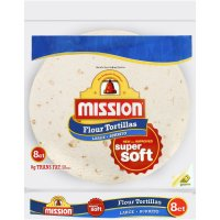 Mission Flour Tortillas Large Size 8CT 20oz PKG