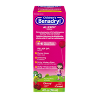 Benadryl Children's Allergy Relief Cherry Flavored Liquid 4oz BTL