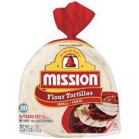 Mission Flour Tortillas Small Size 20CT 23oz PKG