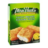 Mrs. Paul's Lightly Breaded Flounder Fillets Premium 3CT 8oz Box