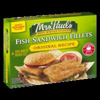 Mrs. Paul's Fish Sandwich Fillets Original Recipe 6CT 18oz Box product image