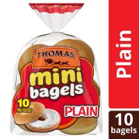Thomas' Mini Bagels Plain 10CT 15oz PKG