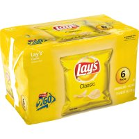 Lay's Classic Potato Chips Singles 1oz EA 6CT PKG