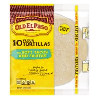 Old El Paso Flour Tortillas Soft Taco Size 10CT 8.2oz PKG