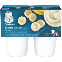 Gerber Yogurt Blends Banana 3.5oz 4CT PKG